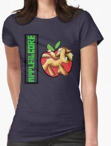 apple core Womens Fitted T-Shirt