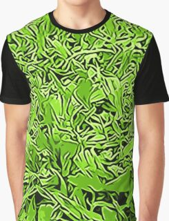 Abstract Grass Graphic T-Shirt