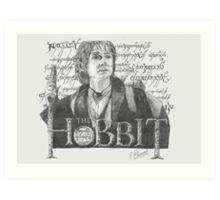 Martin Freeman in The Hobbit Original Pencil Sketch Art Print