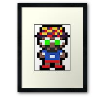 Pixel BD Joe Framed Print