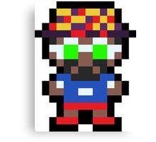 Pixel BD Joe Canvas Print