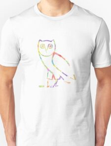 Owl Color Sketch Unisex T-Shirt