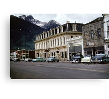 Grand Imperial Hotel In Silverton Colorado, retro Canvas Print