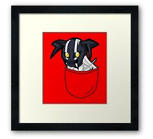 Pouch Hollow Black & White Framed Print