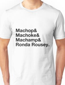 Stylish Pokemon T's   Machop & Machoke & Machamp & Ronda Rousey   Black on Light Unisex T-Shirt