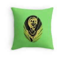 Sanity in Disguise (green) Throw Pillow