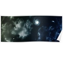 Space background. Poster