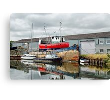 Along The Exeter Canal Canvas Print