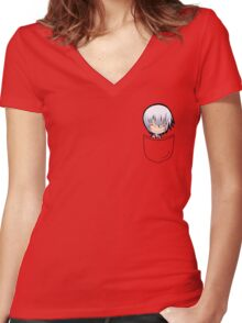 Pouch Gin Ichimaru Women's Fitted V-Neck T-Shirt