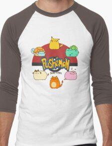 Pushemon Men's Baseball ¾ T-Shirt