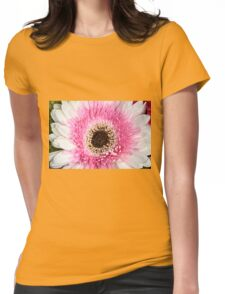 Pink & White Daisy Womens Fitted T-Shirt