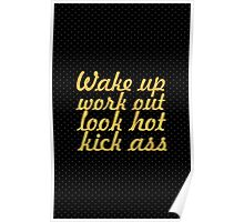 Wake up workoug... Gym Motivational Quote Poster