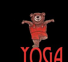 Yoga Bear in Tree pose by Monica Batiste