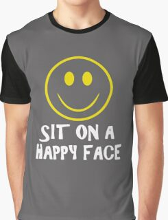 Sit On A Happy Face Graphic T-Shirt