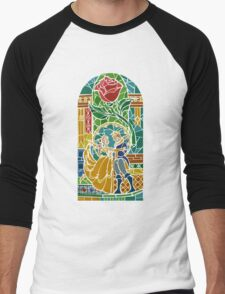Beauty and The Beast - Stained Glass Men's Baseball ¾ T-Shirt