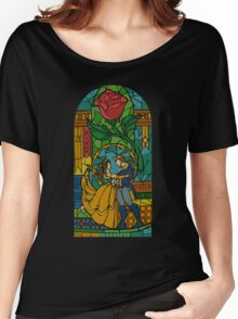 Beauty and The Beast - Stained Glass Women's Relaxed Fit T-Shirt