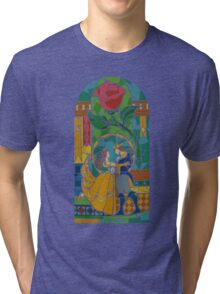 Beauty and The Beast - Stained Glass Tri-blend T-Shirt