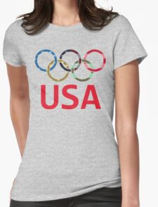 USA Olympic Womens Fitted T-Shirt