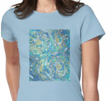 Blue Sapphire Mandalas (Customer Request) Womens Fitted T-Shirt