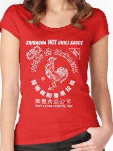 Sriracha Hot Chili Sauce T-shirt Women's Fitted Scoop T-Shirt