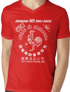Sriracha Hot Chili Sauce T-shirt Mens V-Neck T-Shirt