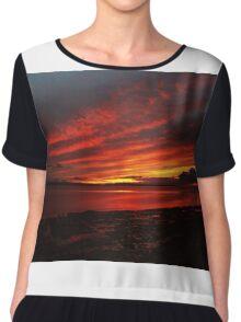 Sunset Over Enniscrone Beach. Chiffon Top