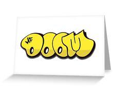 MF DOOM GRAFFITI Greeting Card