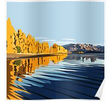 Lake Wanaka, in Autumn. by Ira Mitchell-Kirk Poster