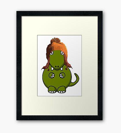 A Dinosaur in Jayne's Hat - Firefly Framed Print