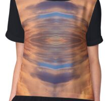 Abstract symmetrical background. Chiffon Top