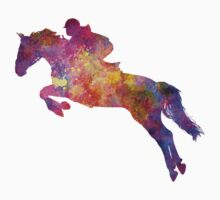 Horse show 07 in watercolor One Piece - Short Sleeve