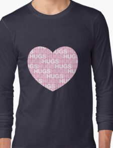 Hugs in a heart Long Sleeve T-Shirt