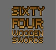 Sixty Four Wooden Swords Phone Case by blangyouredead