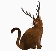 Stag antlered fantasy cat  Tank Top