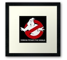 Ghostbusters Coming To Save The World Framed Print