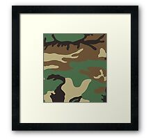 U.S. Woodland Camo Pattern Framed Print
