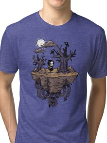 Dark Wood Tri-blend T-Shirt