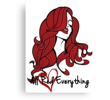 Eva Marie - All Red Everything Variant Canvas Print