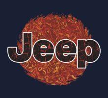 Lava Jeep typograph Kids Tee