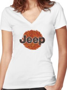 Lava Jeep typograph Women's Fitted V-Neck T-Shirt