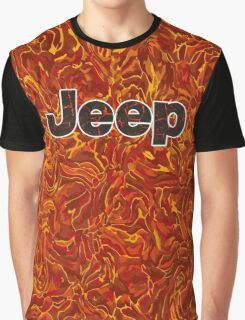 Lava Jeep typograph Graphic T-Shirt