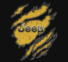 muddy yellow Jeep with chrome typograph One Piece - Short Sleeve