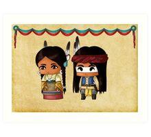 Chibi American Indians Art Print