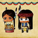 Chibi American Indians by artwaste