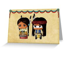Chibi American Indians Greeting Card