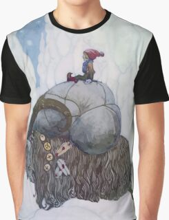 Jullbocken The Yule Goat Being Ridden By A Child Graphic T-Shirt