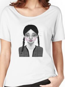 002 Black Braids & Fly-Away Hair Women's Relaxed Fit T-Shirt