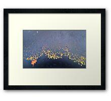 Rainy beach Framed Print
