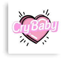 ♡CRYBABY heart♡ Canvas Print