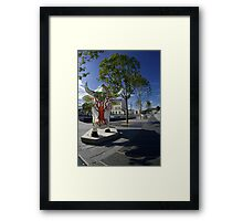 Cows and Trees, Ebrington Square, Derry Framed Print
